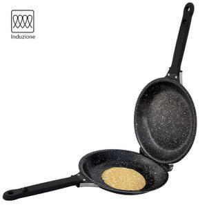 Padella Doppia Antiaderente Induzione Girafrittata Omelette