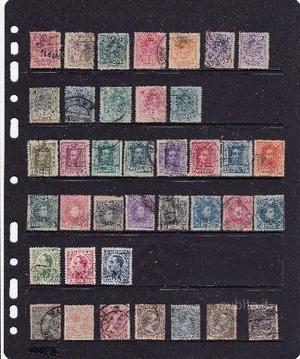 Spagna n 35 francobolli sottodescritti
