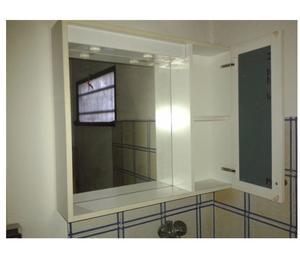 Mobile specchiera bianca bagno posot class - Specchiera per bagno ...