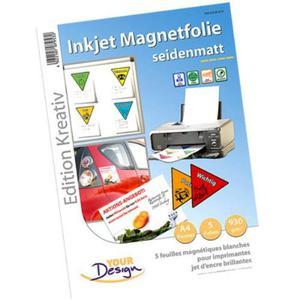 5 Fogli Magnetici Formato A4 Per Stampanti A Getto