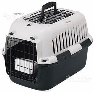 Trasportino Animali Cani Gatti Nero - Grigio Usato