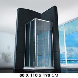 Cabina Box Doccia Angolare In Cristallo Trasparente 4mm Con