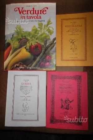 Libri di ricette alimentari nr. 4 volumi