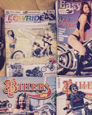 Stock riviste moto custom harley davidson