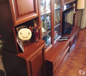 Vendo mobile soggiorno in legno + lampadario