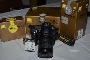 Nikon D80 + zoom  DX VR II stab. + MB80