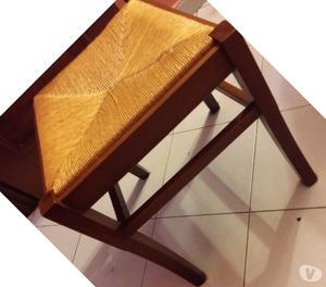 6 sedie impagliate legno noce pisa posot class for Sedie osteria usate