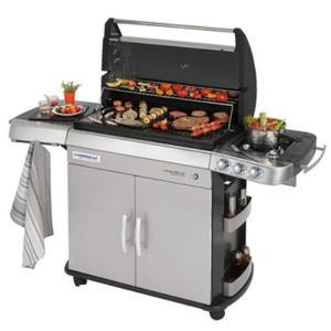 Barbecue A Gas Sistema Antifumo Con Fornello Laterale