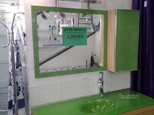 Specchio e/o pensile verde