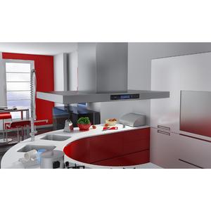 vidaXL Cappa da cucina a isola design acciaio inox con
