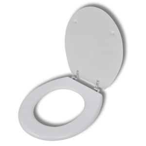 vidaXL Sedile WC in MDF Coperchio chiusura forte con disegno