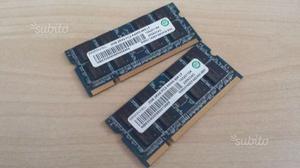 2 schede ram ddr2 notebook 4GB