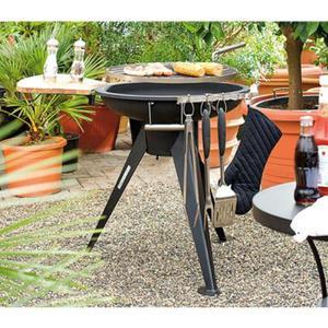 Barbecue A Carbone Con Griglia Girevole