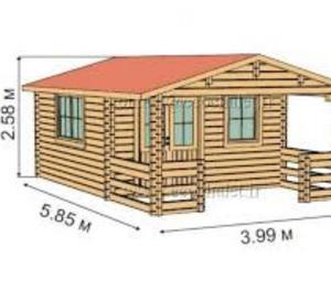 Garage in legno spessore 40mm 6x4 posot class for Casetta in legno usata