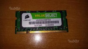 2gb ddrmhz sodimm pcs corsair valuesele