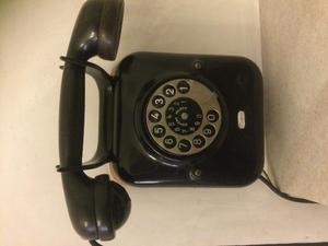 TELEFONO nero a parete