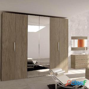 Armadio 6 ante ciliegio specchio mondoconvenienza posot - Armadio ciliegio specchio ...