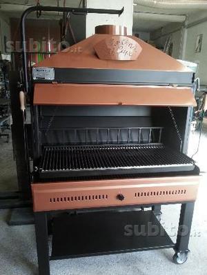 Barbecue griglia rotonda esterni brace pinze posot class for Griglia per barbecue bricoman