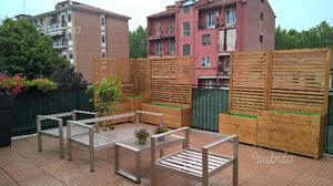 panca in legno da giardino con 2 fioriere posot class. Black Bedroom Furniture Sets. Home Design Ideas