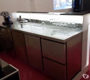 Vendo bancone frigo bar in acciaio