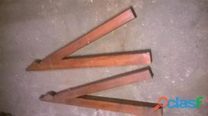 Mensole nuove in legno massiccio per tettuccio di ingresso