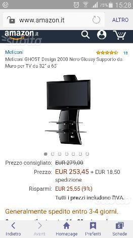 Meliconi Ghost Design 2000 Supporto Per Tv Lcd Al Plasma.Meliconi Supporto Tv Ghost Design 3000 Fino A 63 Posot Class