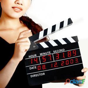 Orologio sveglia digitale ciack cinematografico - Thermic