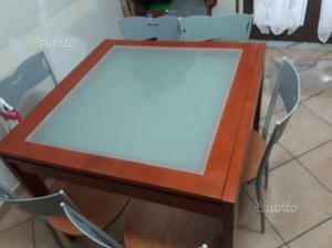 Tavolo tiramisu basic 90 x 90 cm colore ciliegio posot class for Tavolo 90 x 90 allungabile