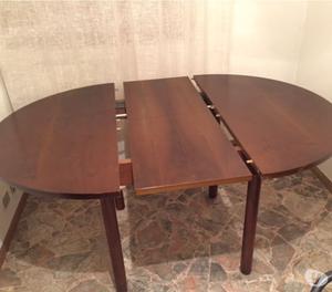 Tavolo rotondo allungabile con 6 sedie
