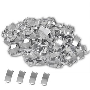 vidaXL 500 Fermagli coda di rondine in acciaio zincato per