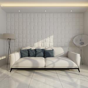 vidaXL Pannello da parete 3D Quadrato 0,5 m x 24 pannelli 6