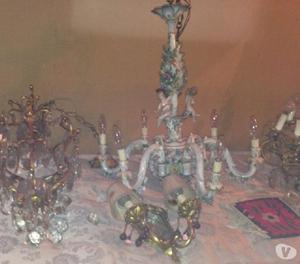 Lampadari cristallo e ceramica e appliques a gocce   Posot Class -> Lampadari Antichi Capodimonte