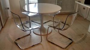 Tavolo tondo antico 4 sedie thonet vero legno posot class for Tavolo tondo bianco