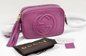 ac0bb7787e Gucci soho disco bag color rosa scuro originale | Posot Class