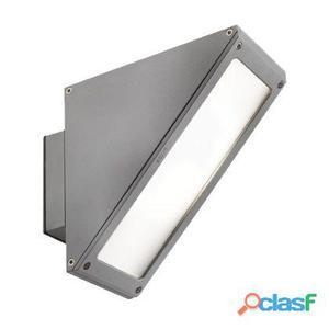 Lampada Applique Alta Con Led Colore Alluminio Per Esterno