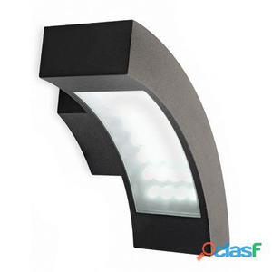 Lampada Applique Orizzontale Colore Nero Per Esterno Linea