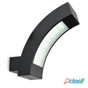 Lampada Applique Verticale Colore Nero Per Esterno Linea