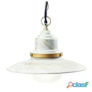 Lampada Sospesa Colore Bianco E Oro Per Esterno Linea Fisher