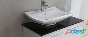 Mobile bagno stondato cm 90 bianco opaco posot class - Mobile bagno stondato ...