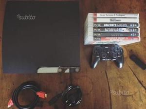 Play Station 3 Slim 160 GB 6 giochi controller