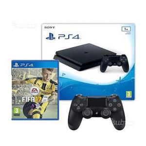 Playstation4 slim 1tb. fifa17. due joystick