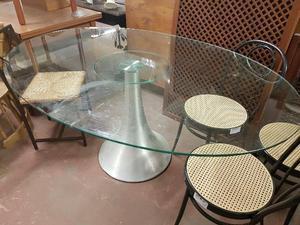 Tavolo ovale di vetro posot class - Tavolo vetro ovale ...