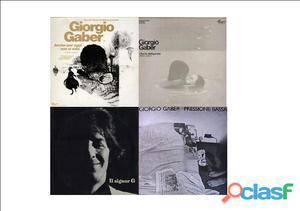 7 favolosi LP di Giorgio Gaber anni 70 originali