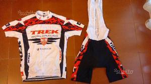 Completo ciclismo maglia+salopette TREK WORLD RACI