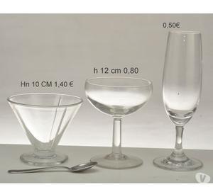 serie bicchieri di varie tipologie e dimensioni