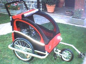 Rimochio carrello passeggino bici bicicletta posot class - Carrello per bici porta cani ...