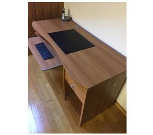 Scrivania porta pc tavolo per computer con ripiani posot for Tavolo pc ikea