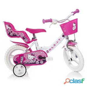 "Bicicletta Hello Kitty Per Bambina 12"" Eva 1 Freno"