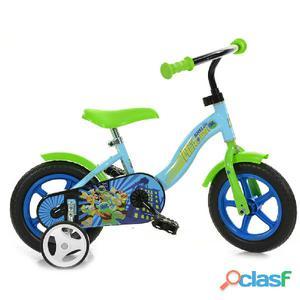 "Bicicletta Ninja Turtles Per Bambino 10"" Senza Freno"