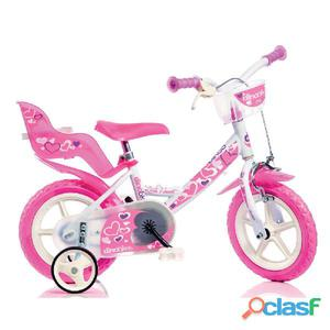 "Bicicletta Per Bambina 12"" Eva Little Heart 1 Freno"